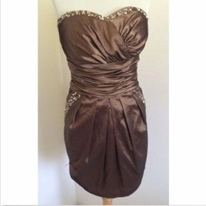 Narianna sz S satin beaded sexy dress